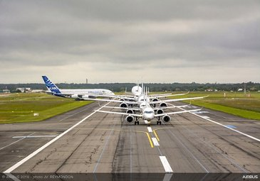 Airbus Commercial Aircraft formation flight – Airbus 50th Years Anniversary