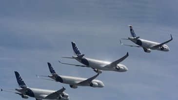 AIRBUS FAMILY FLIGHT - FOOTAGE