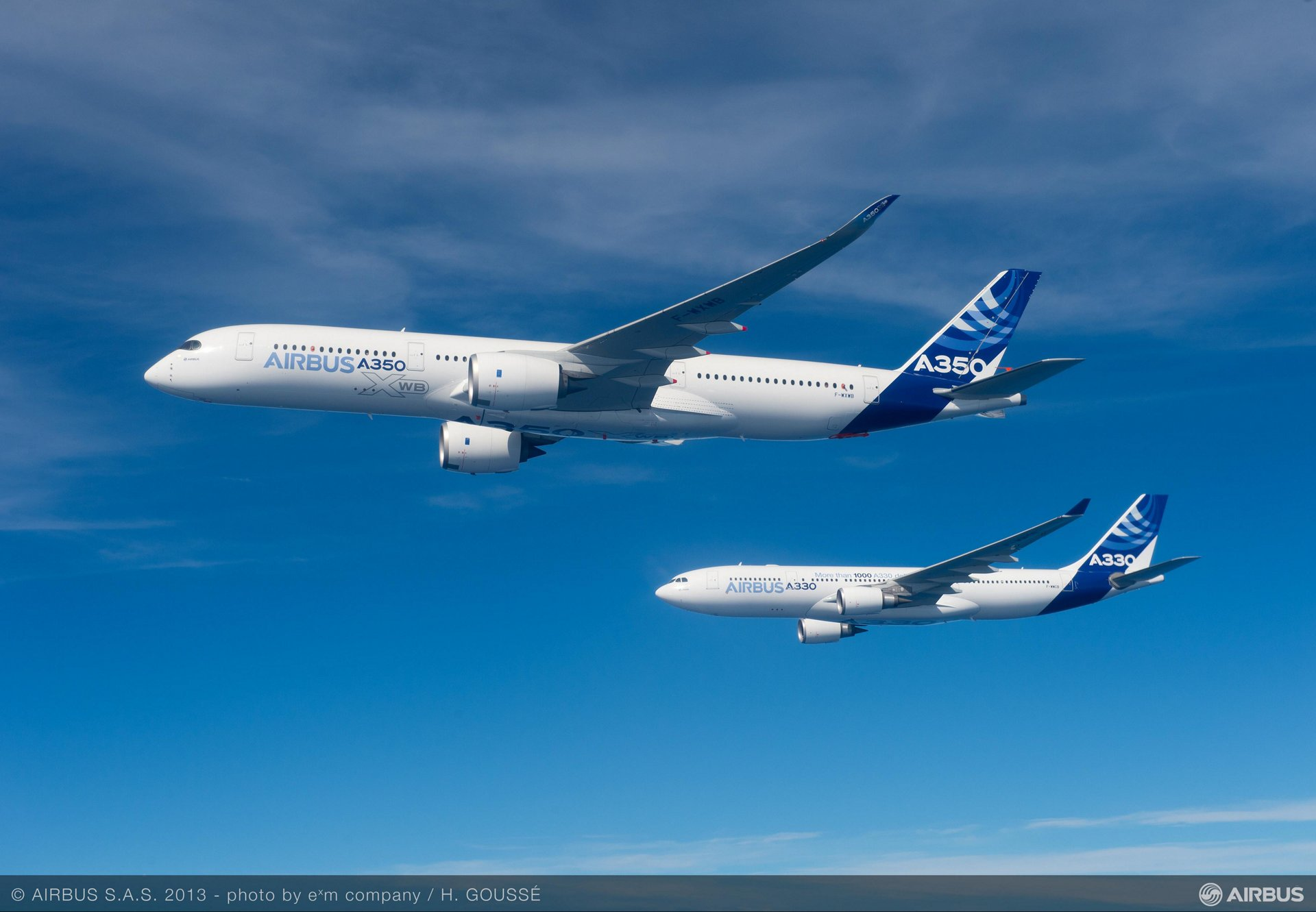 Formation flight A330 A350 XWB