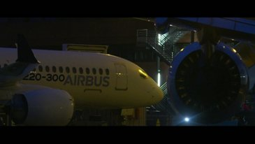 Airbus product line formation flight – 50-year celebration