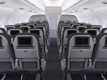 A321 American Airlines Main Cabin Back HR