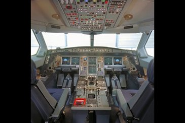 A340-600 Airbus cockpit