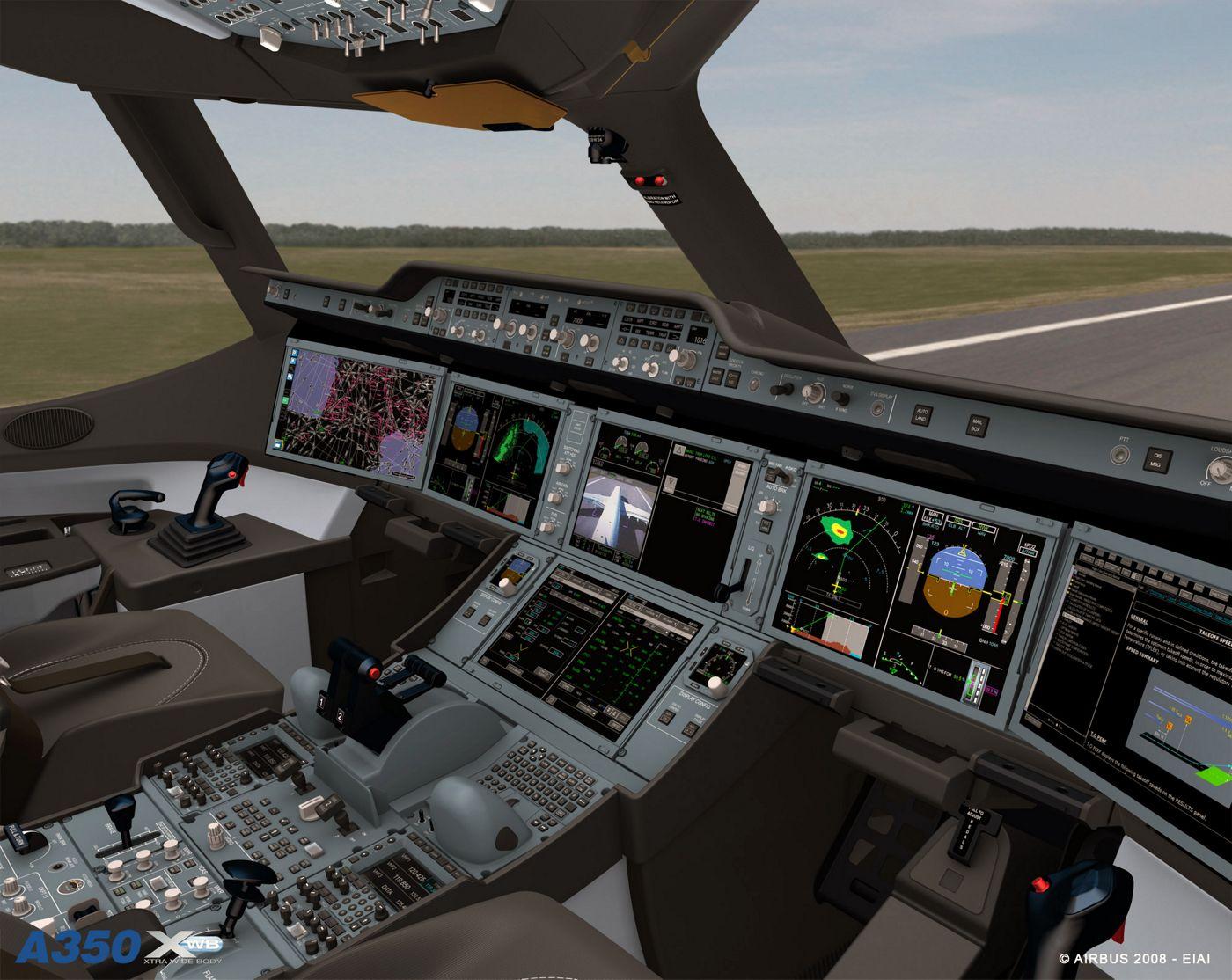 A350 cockpit virtual visit