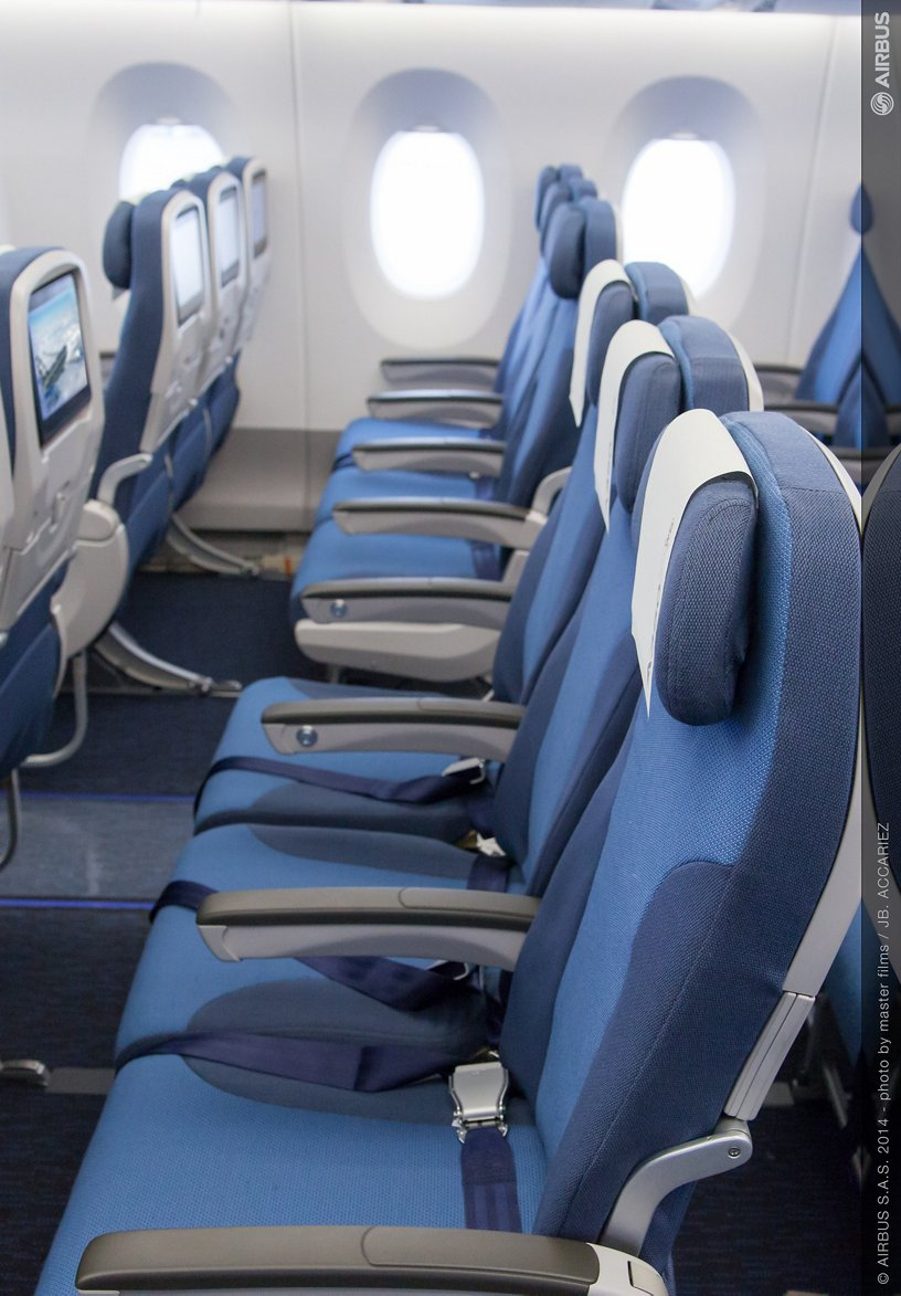 A350 MSN2 cabin - Eco row