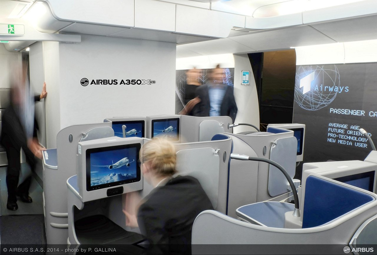 A350 XWB Customer Definition Centre Inspire Mock Up Theme Smart Tech