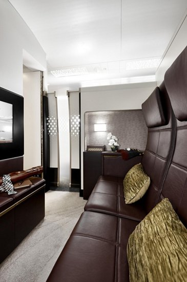 A380 Etihad The Residence lounge