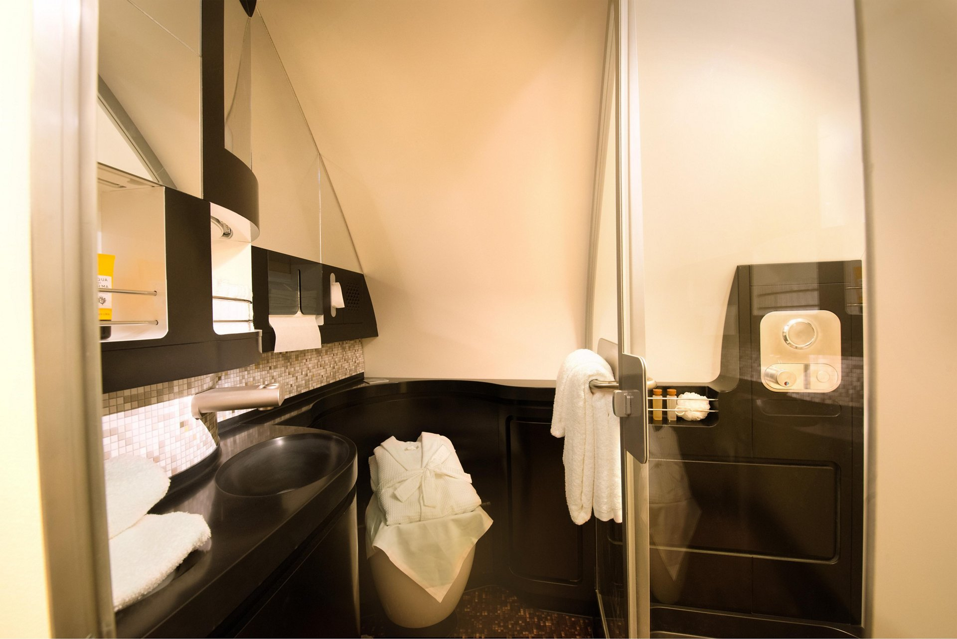 A380 Etihad The Residence bathroom