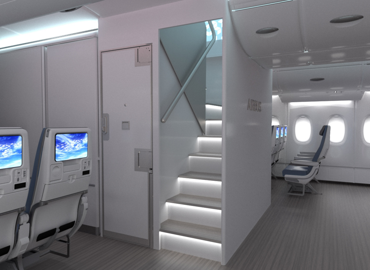 """The """"New Forward Stairs"""" (NFS) option is the latest in Airbus' full spectrum of new Cabin Enablers for customers of its flagship A380 jetliner"""
