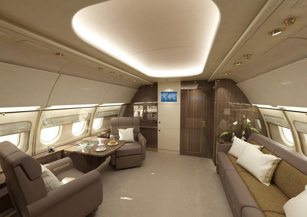 AJA Airbus ACJ318 Elite Private Office 2