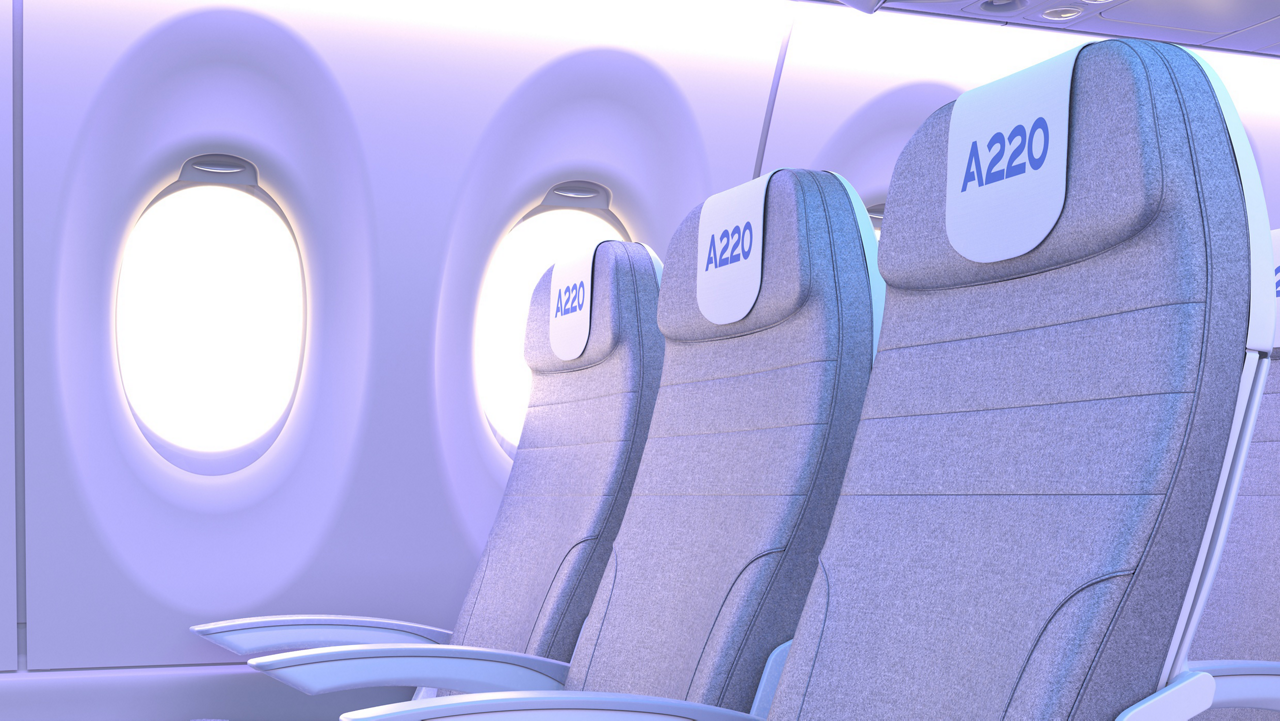 A220 Economy Seats Day Light