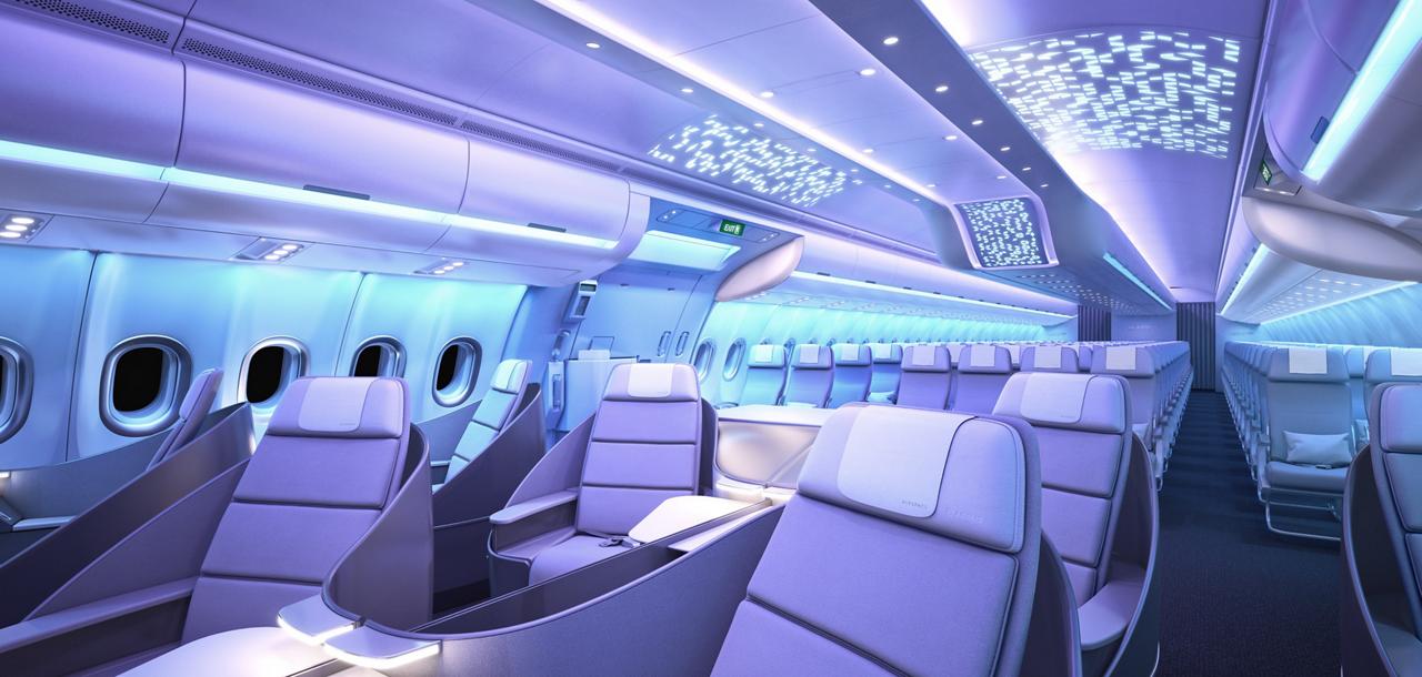 Nuovi interni Airspace Credits: Airbus