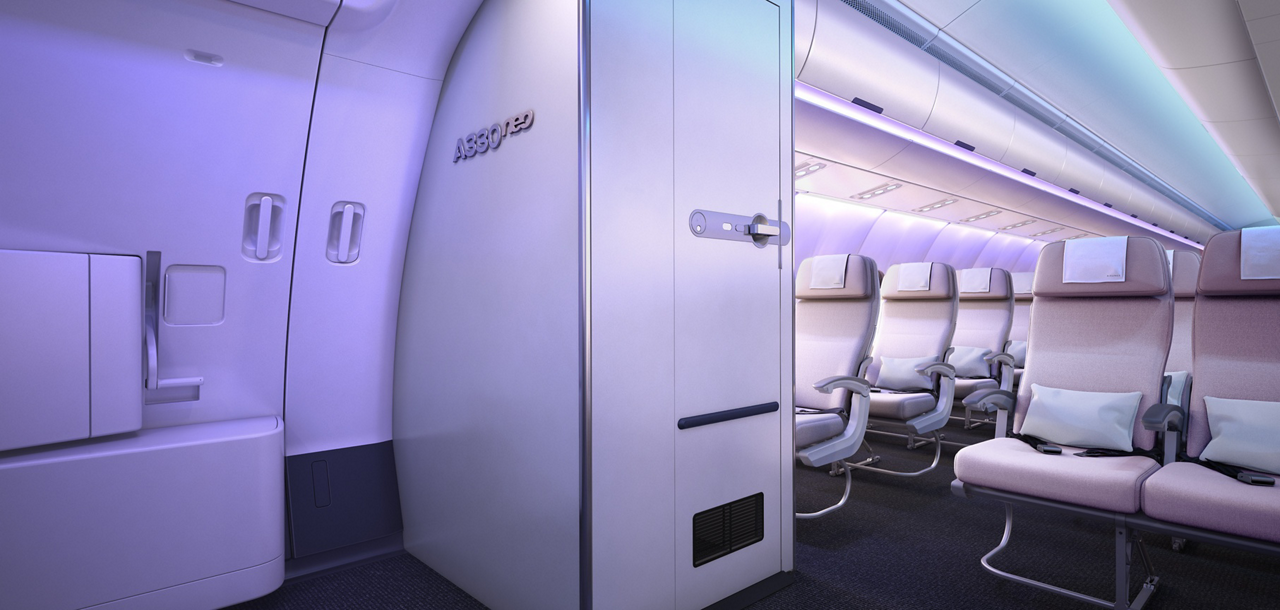 The A330neo (new engine option) has been the launch vehicle for the Airspace  cabin brand, which connects passenger well-being with the operational performance of airlines