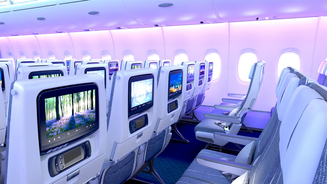 In-flight entertainment systems for passengers on board an A380