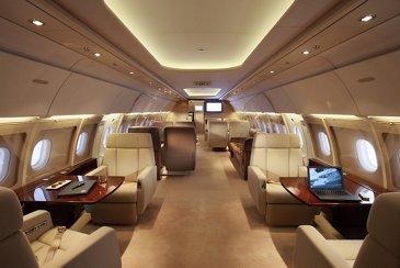 Globaljet Airbus ACJ318 Cabin