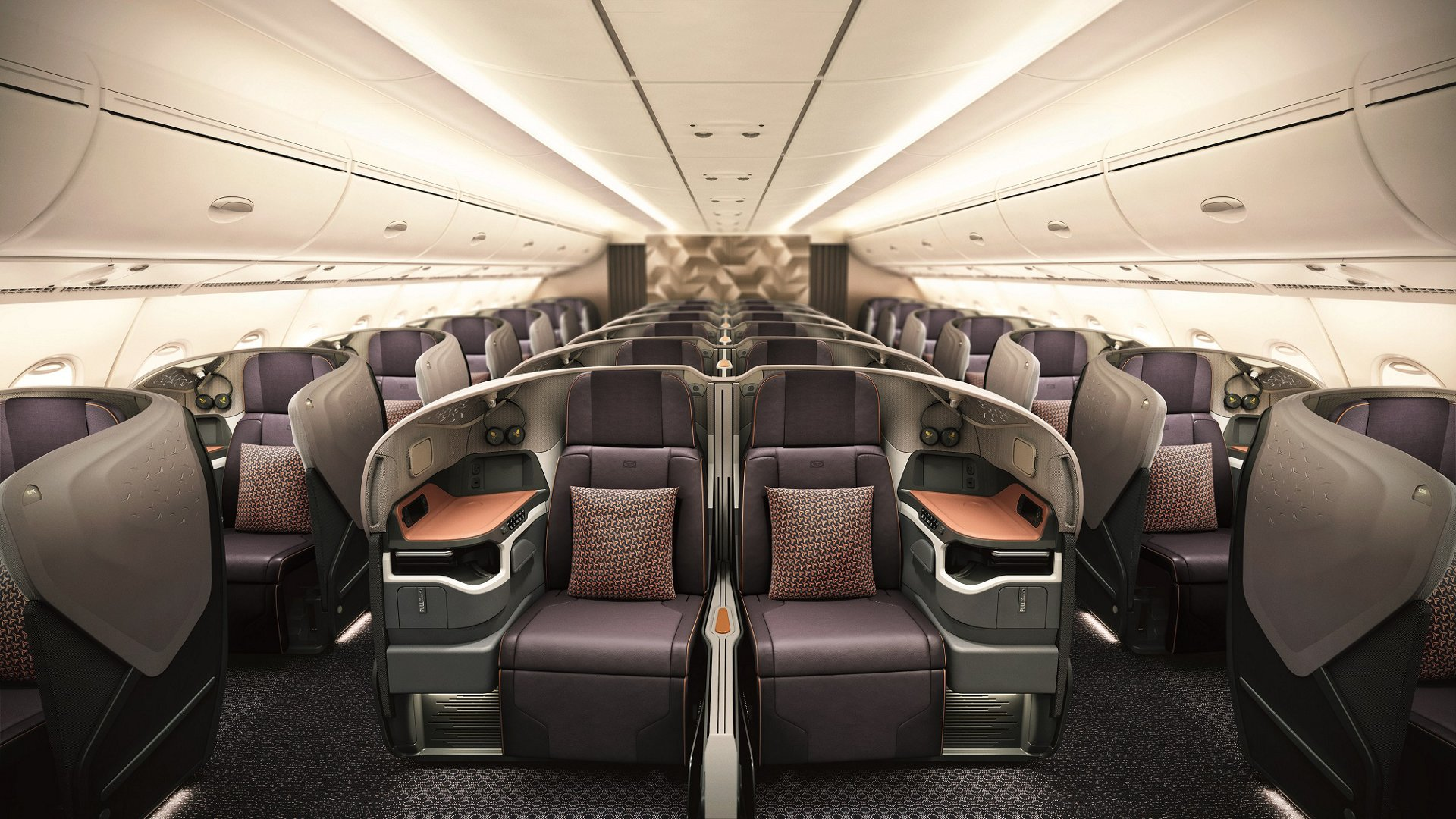 The business class cabin product that has been installed in the retrofitted SIA A380