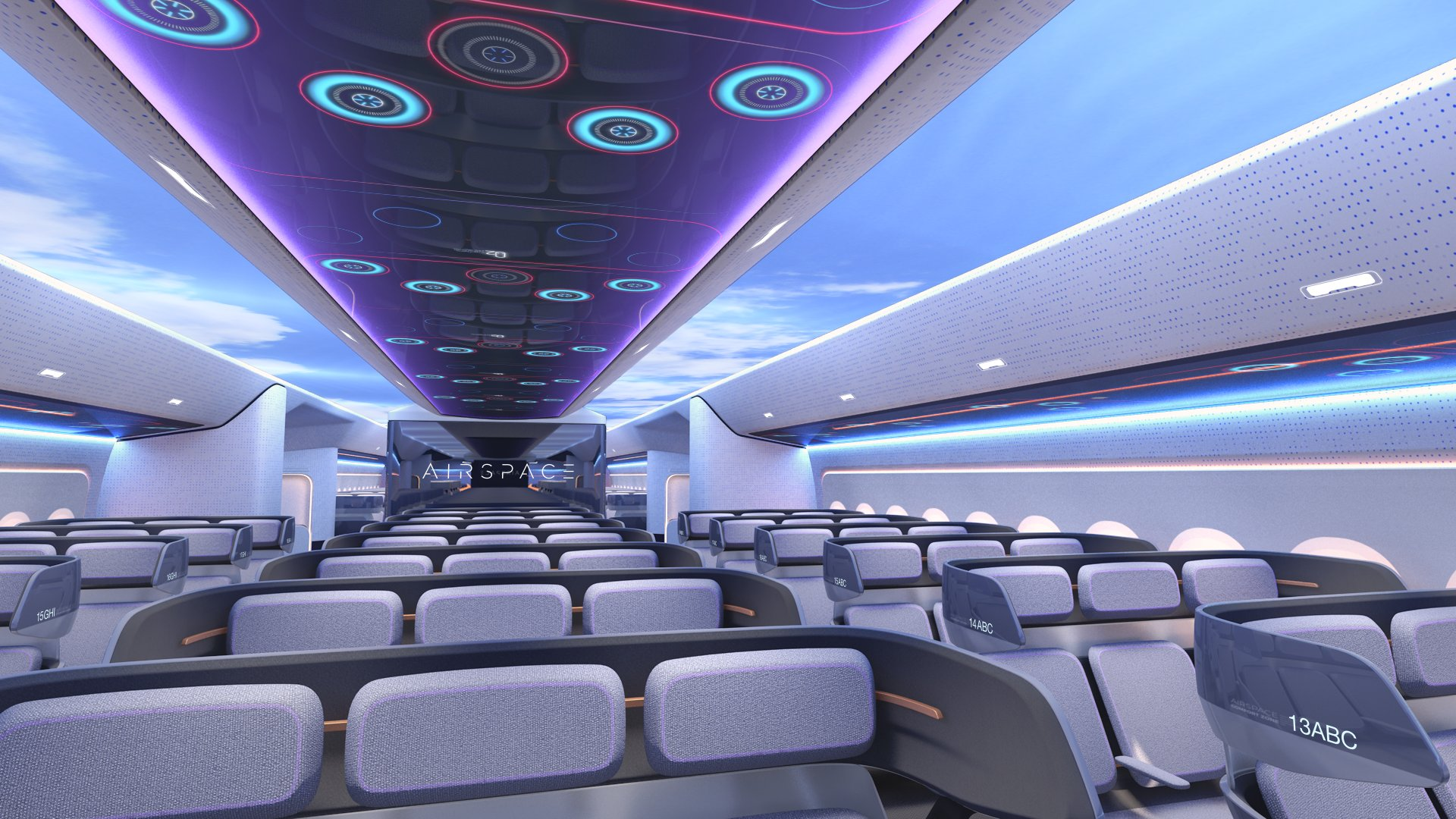 Airbus' Airspace Cabin Vision 2030 demonstrates how the company is shaping the future flying experience – inspired by leading airlines, benchmark tech companies and start-ups