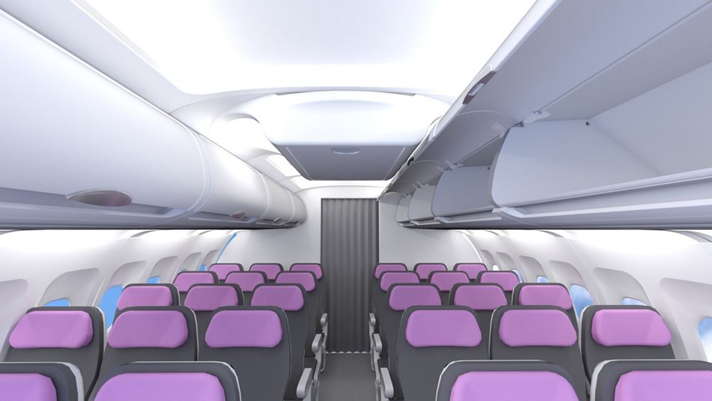 A320 ceiling stowage