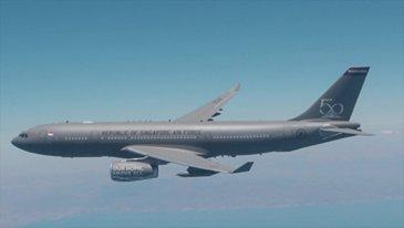 RSAF A330 MRTT AAR Footage