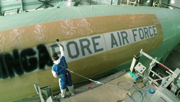 A330 MRTT Singapore Air Force Painting Process