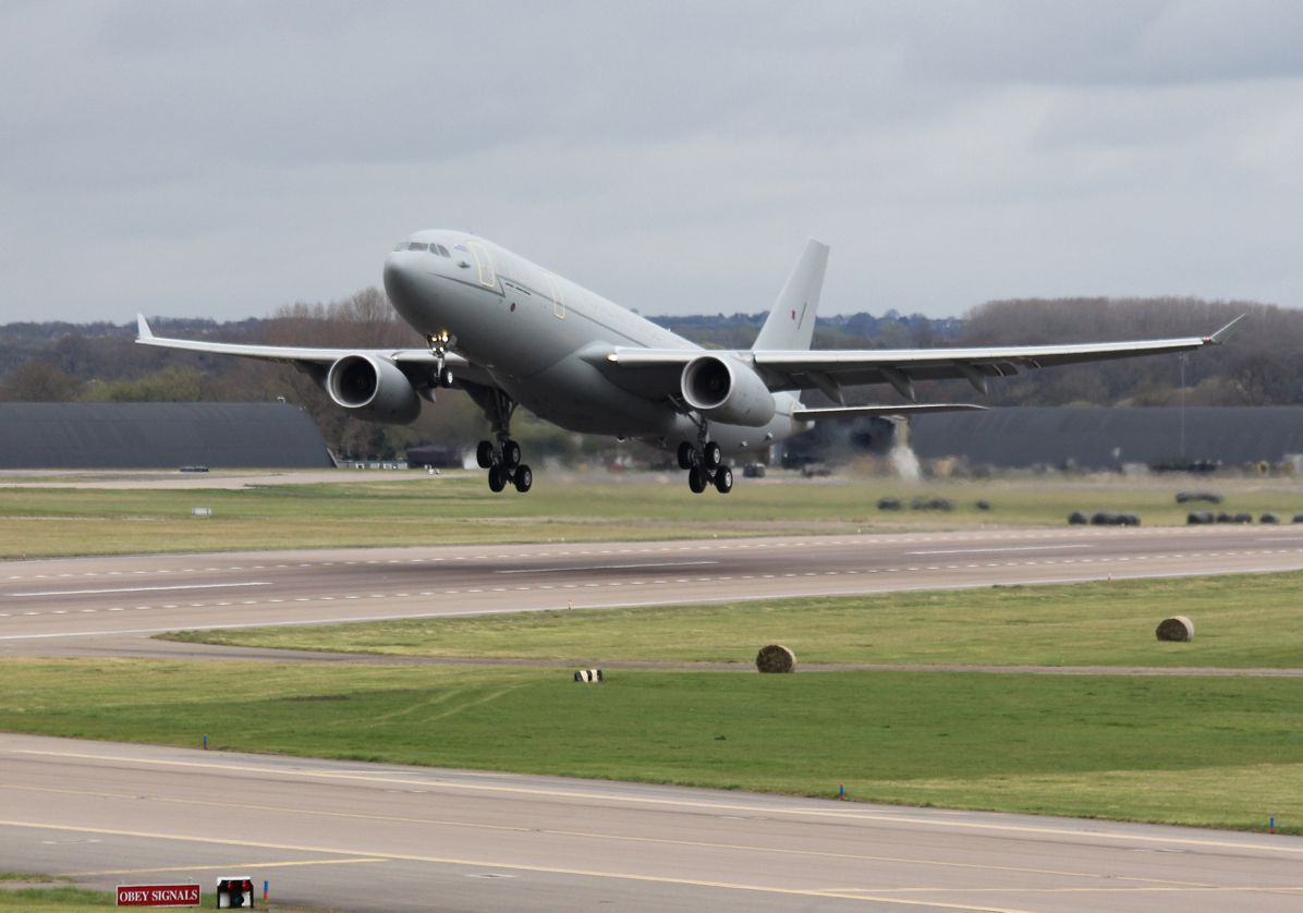 Airbus A330 MRTT first flight in RAF service