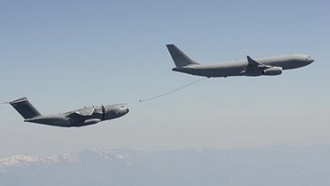 The Royal Air Force A330 MRTT 'Voyager' achieves clearance to refuel A400M aircraft