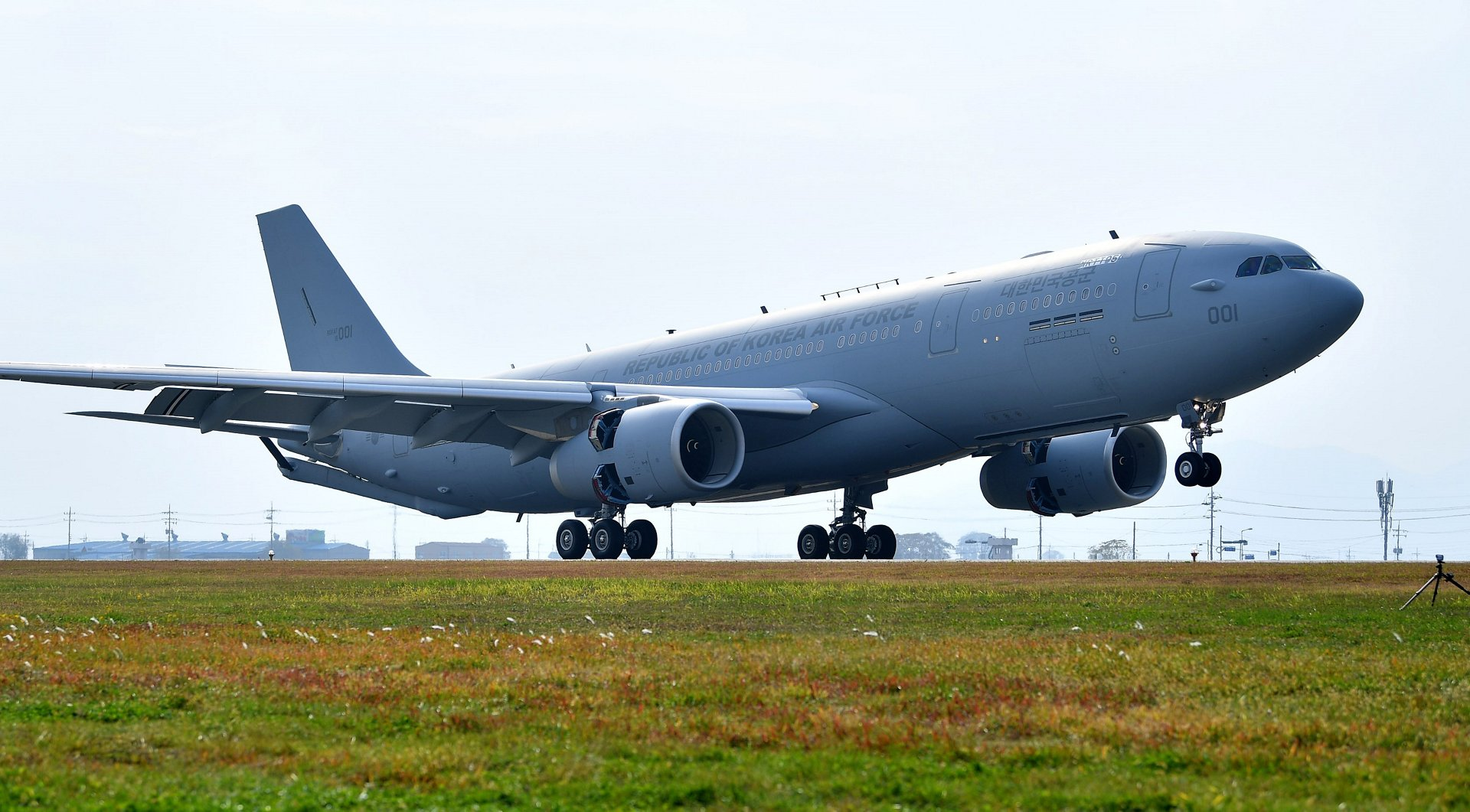 Republic of Korea Air Force receives first Airbus A330 MRTT at Gimhae Air Base
