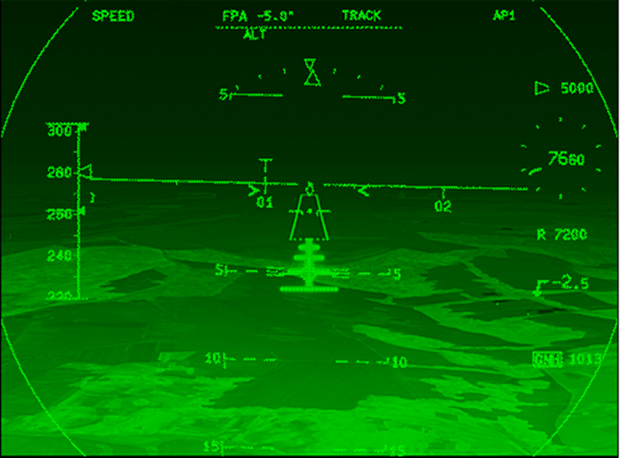 The A400M's forward-looking infrared enhanced vision system (EVS) camera provides an enhanced terrain view in low-visibility conditions.