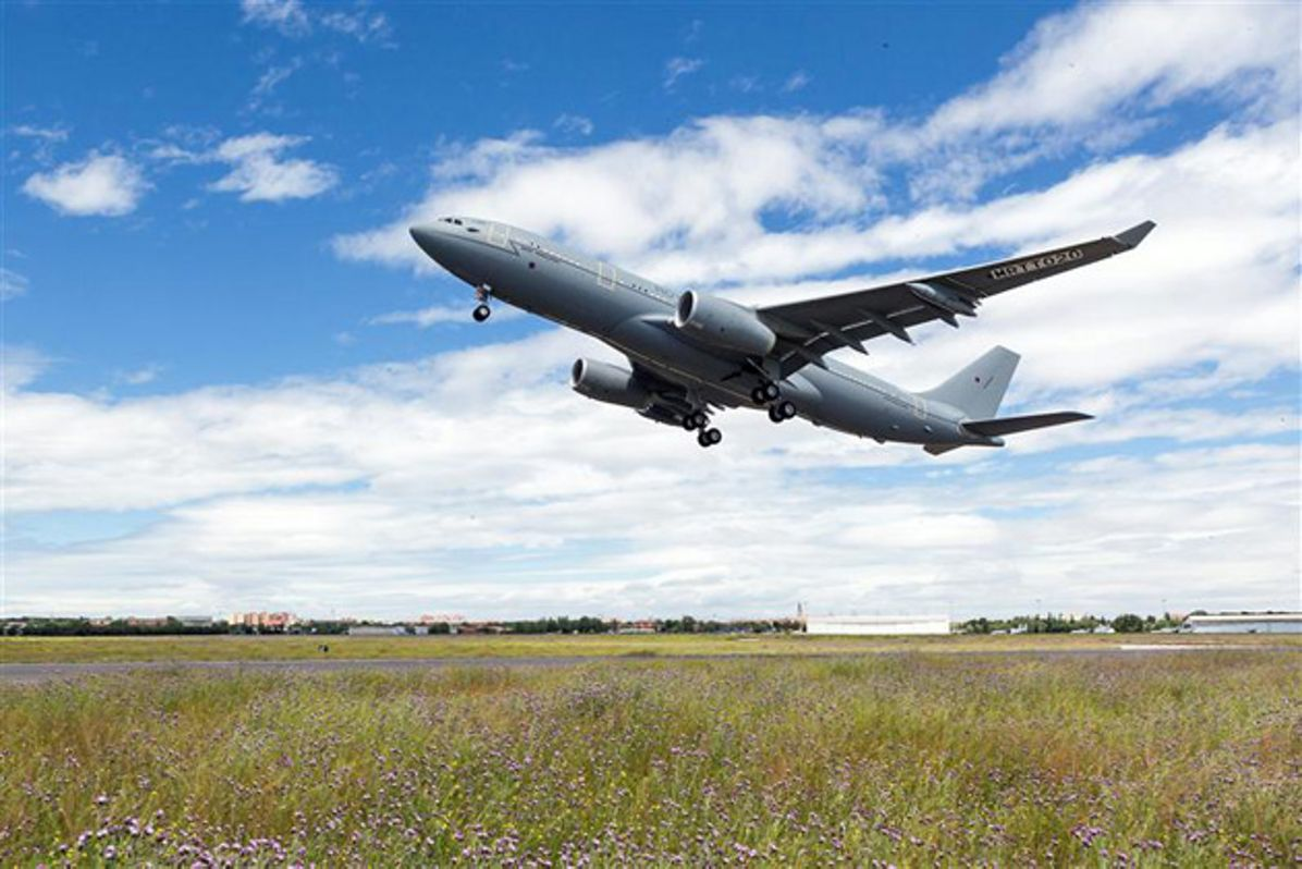 Take-off of A330 MRTT Multi Role Tanker Transport