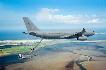 Airbus A330 Multi Role Tanker Transport (A330 MRTT) aircraft refueling