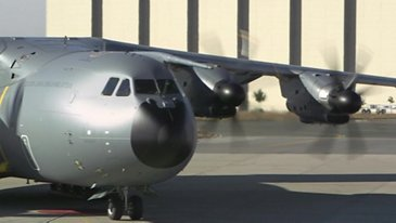A400M Malaysia First Engine Run and Taxi