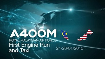 A400M Royal Malaysian Air Force first engine run and taxi