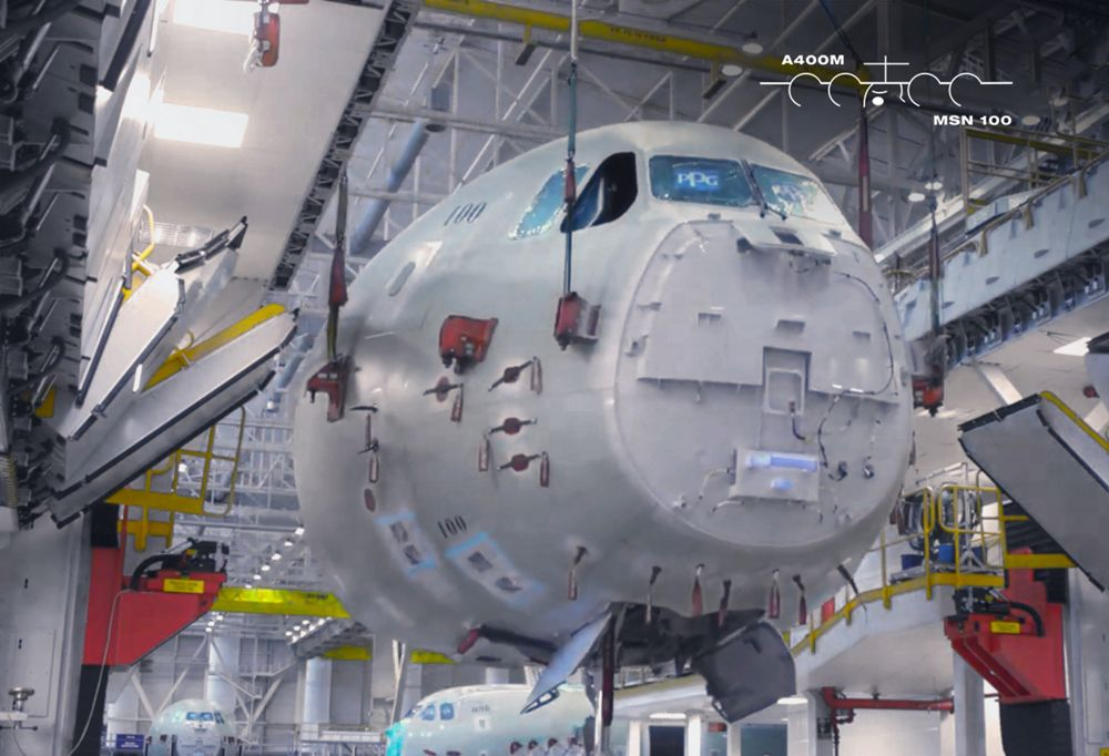 """How the A400M is built:  The A400M's """"nose job"""""""