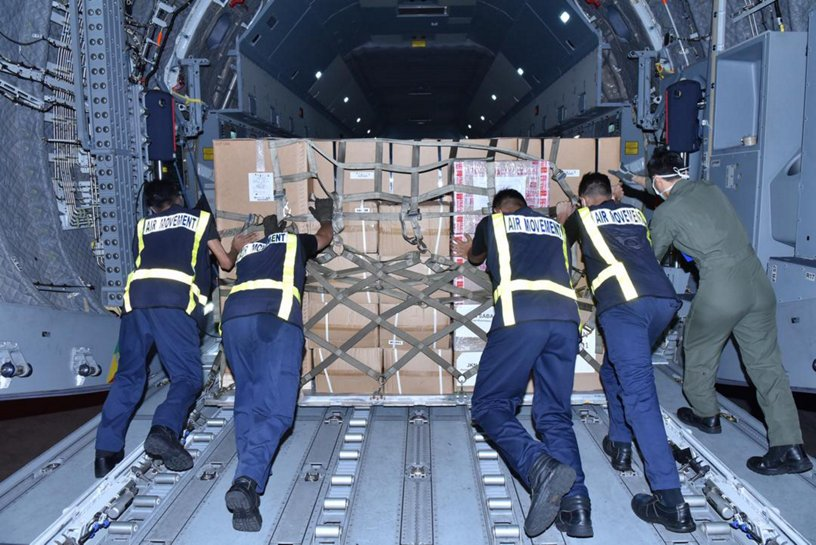 RMAF's A400M sending essential supplies