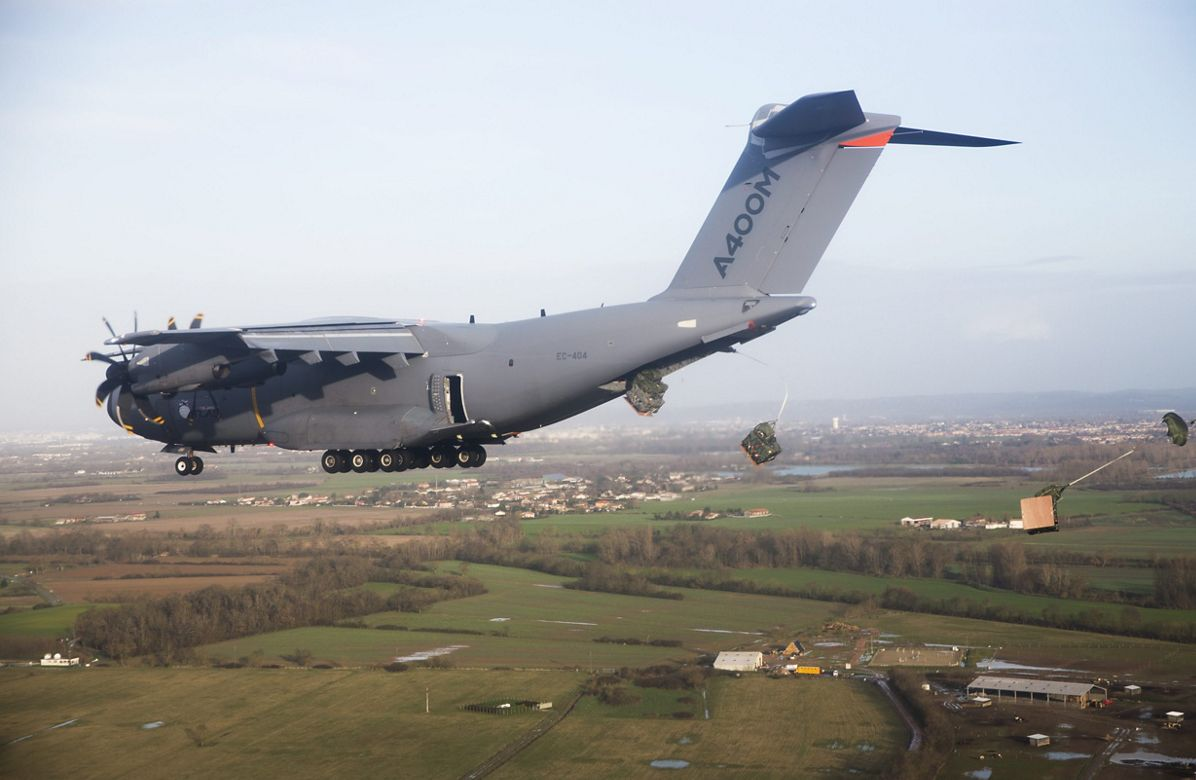 Airbus A400M successfully completes first airdrop trials