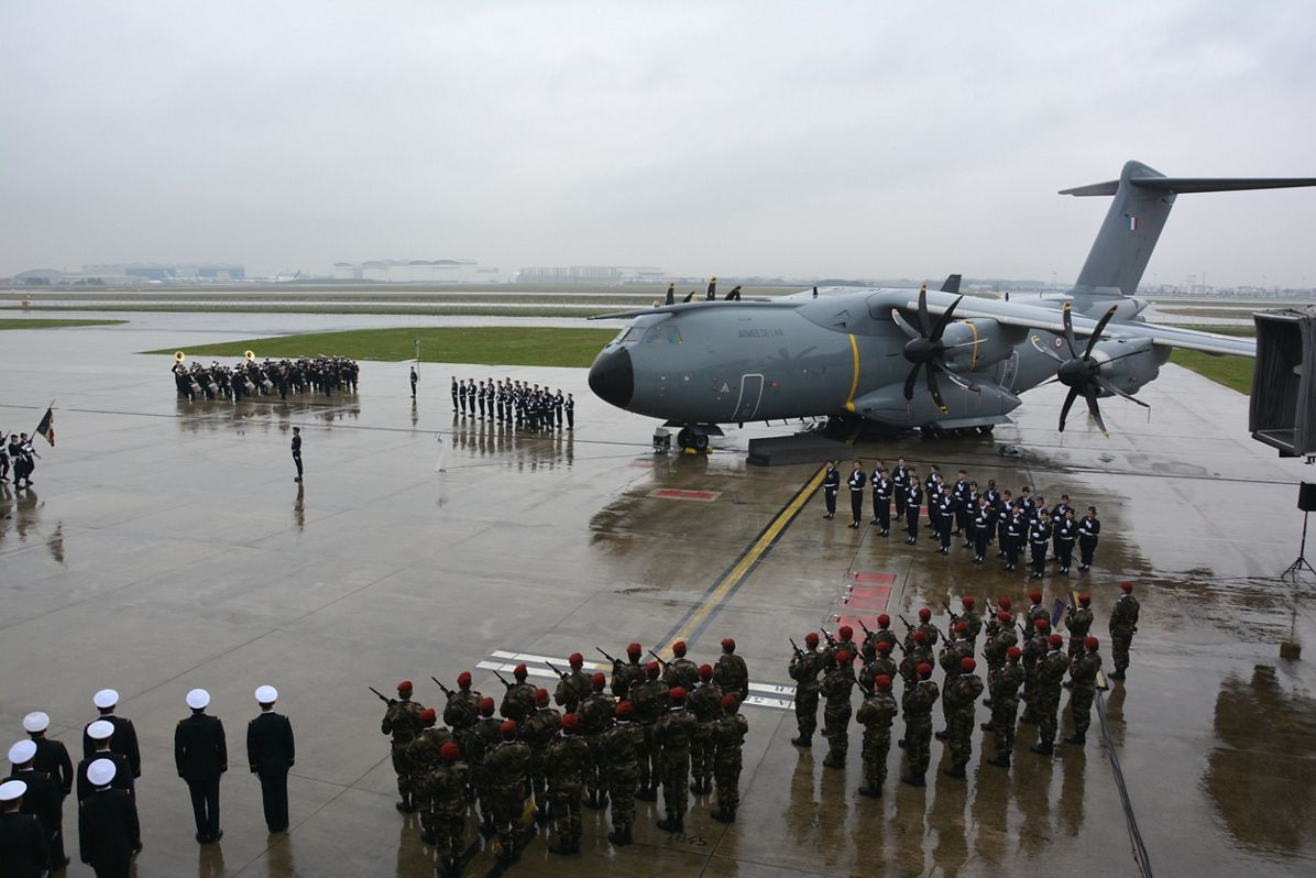"""Second A400M of French Air Force named """"Ville de Toulouse"""""""