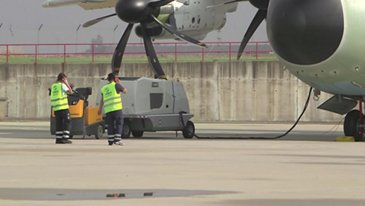 First A400M for German Air Force runs its engines for the first time