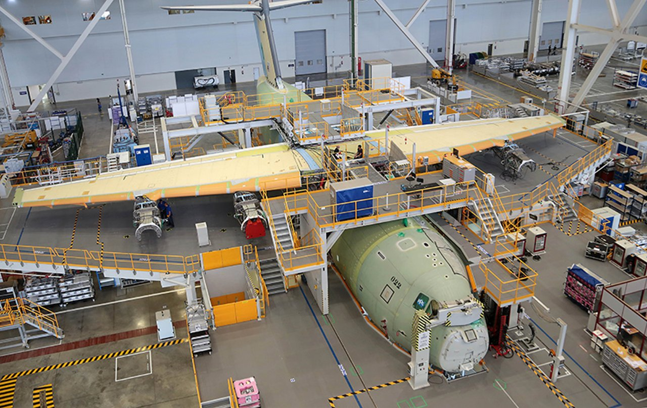 Assembling of the first A400M for Malaysia