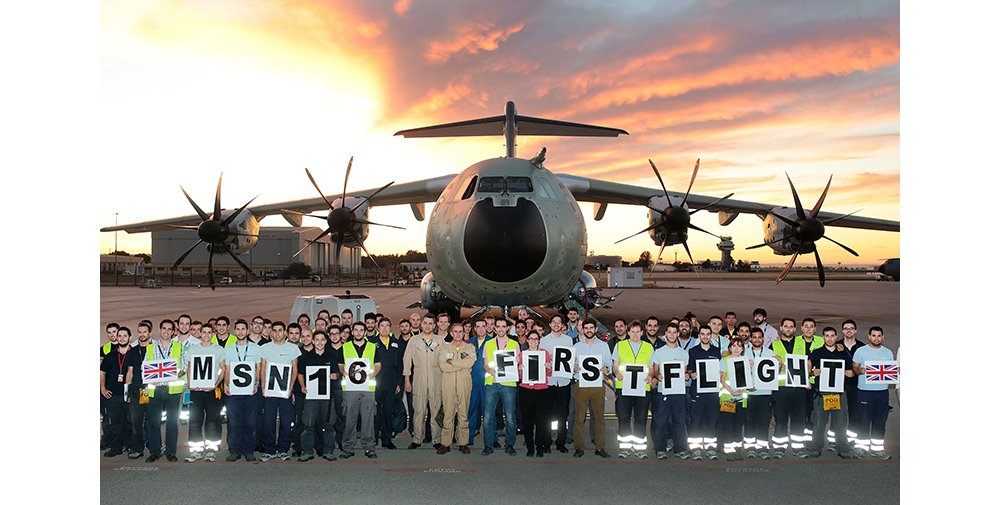 Second UK A400M on the ground with Airbus flight test team