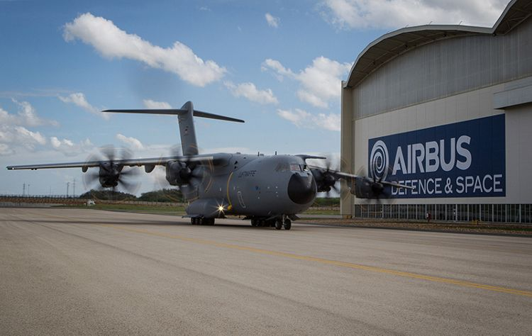 German Air Force A400M on the ground in Sevilla