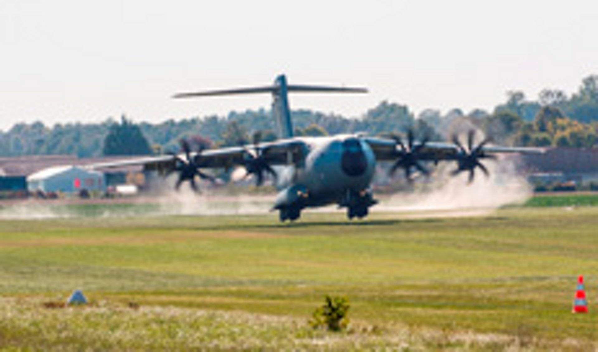 A400M on the grass