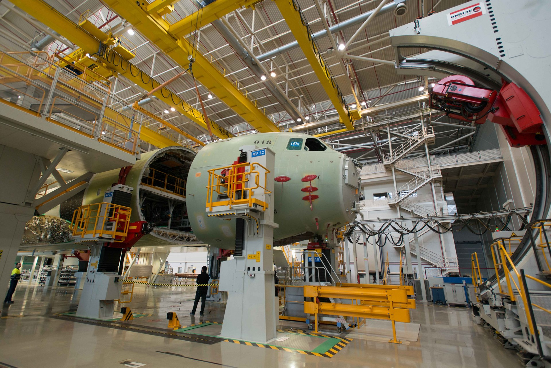 Start of the final assembly of first A400M for Germany