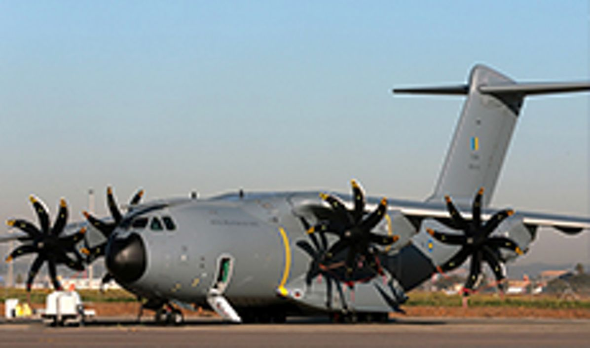 First Airbus A400M for the Royal Malaysian Air Force with its new colours at the Airbus facility in Seville, Spain