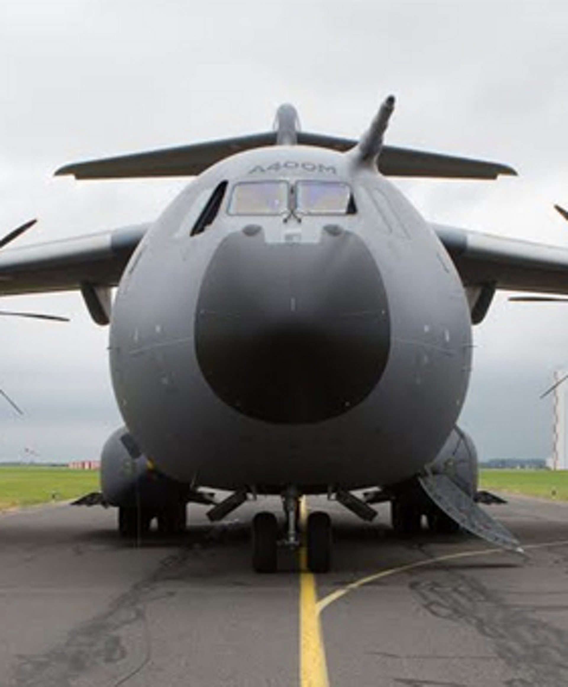 A400M view from the front
