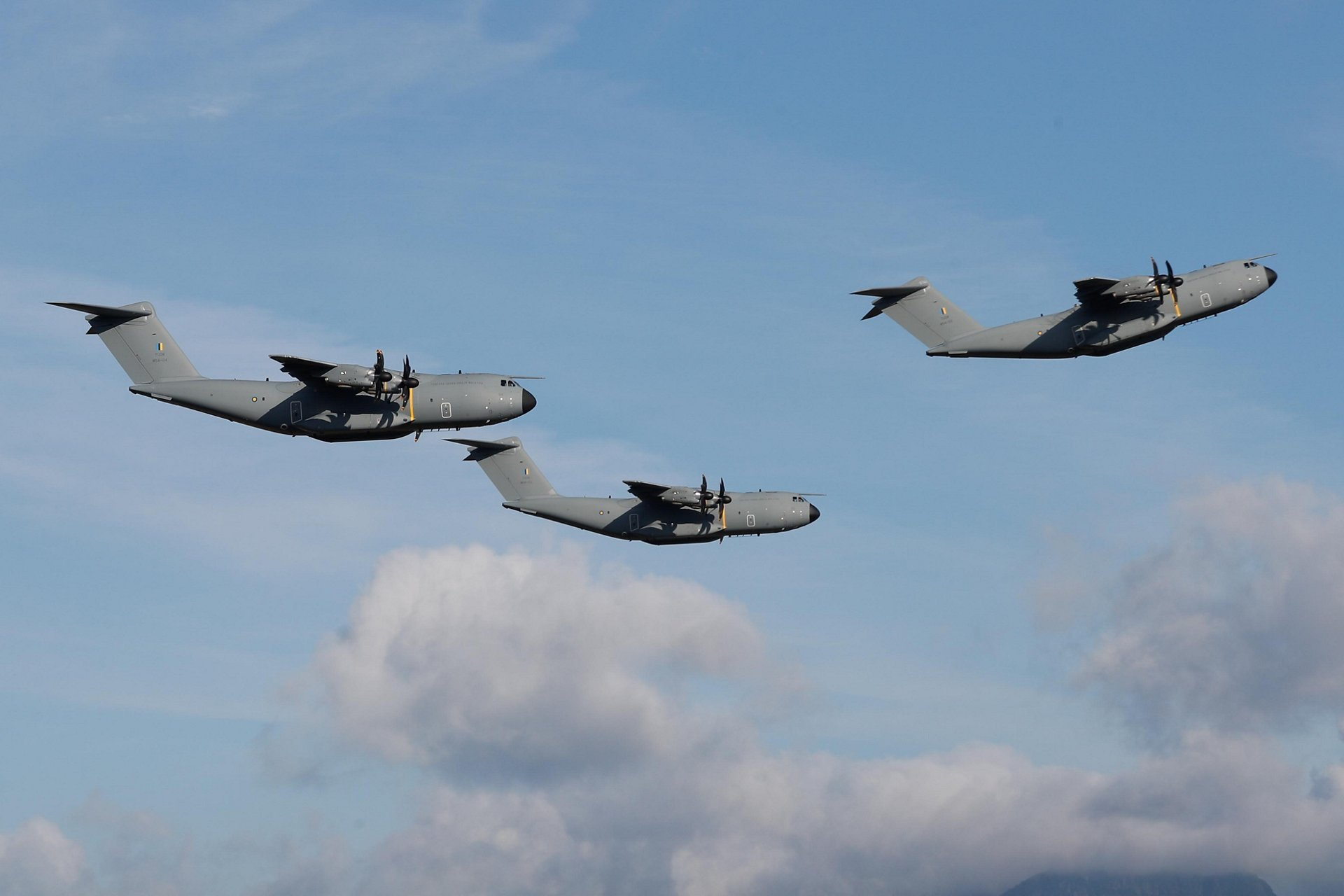 Royal Malaysian Air Force A400M formation flying