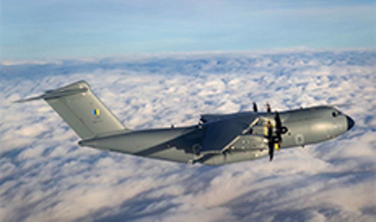 A400M flying over the clouds