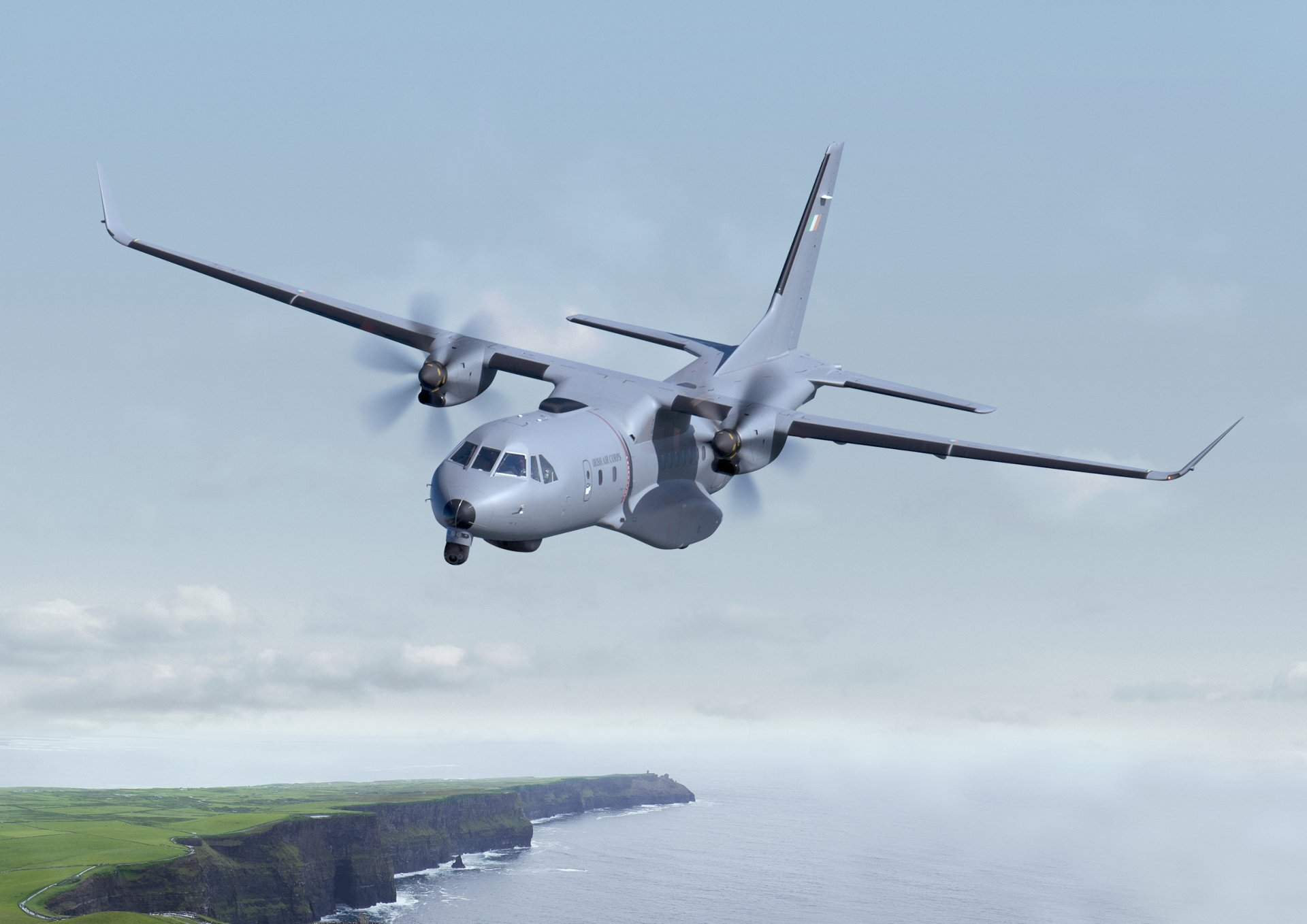Ireland's Department of Defence's Airbus C295 medium airlifter in a maritime surveillance configuration.