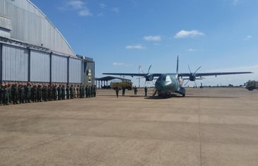 C295, end of Tour at Campo Grande military base, Brazil