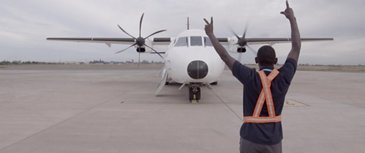 C295 Humanitarian Mission in Mozambique - Footage