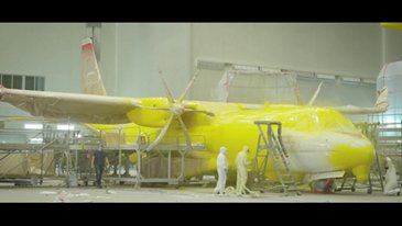 C295 Canada Painting process
