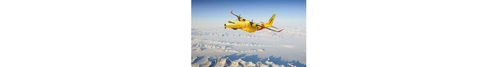 C295 flyning over mountains
